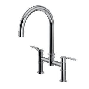 4593HS Perrin & Rowe Armstrong Kitchen Bridge Mixer Tap - Smooth Handle